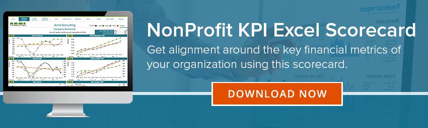 NonProfit's KPI Excel Scorecard