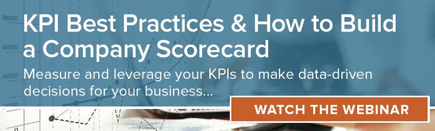 Webinar: KPI Best Practices & How to Build a Company Scorecard