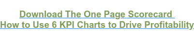 Download The One Page Scorecard  How to Use 6 KPI Charts to Drive Profitability