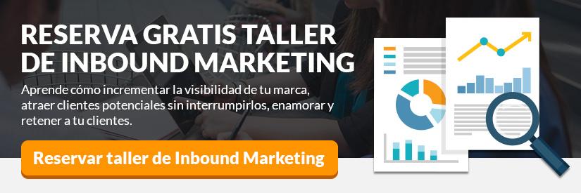 Reserva taller de inbound marketing gratuito