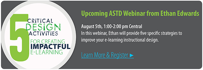 5 Design Activities to Create Engaging e-Learning Webinar | ASTD.org