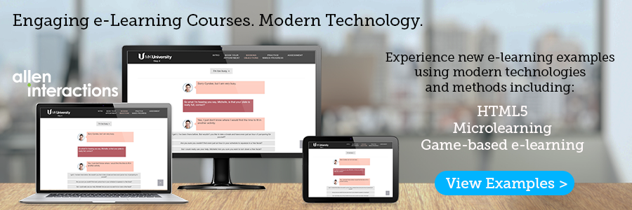 e-learning courses using HTML5, Microlearning, game-based learning