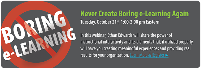 Never Create Boring e-Learning Again (Saba Webinar)