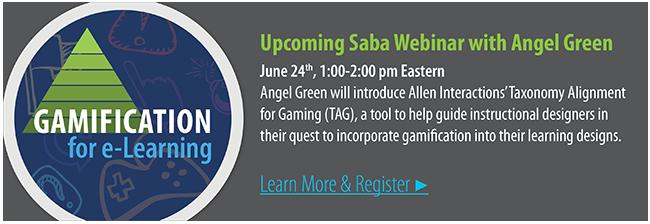 Gamification for e-Learning | Saba Webinar