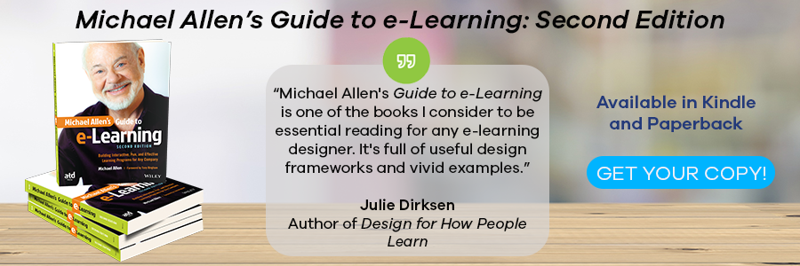 Michael Allen's Guide to eLearning: 2nd Edition