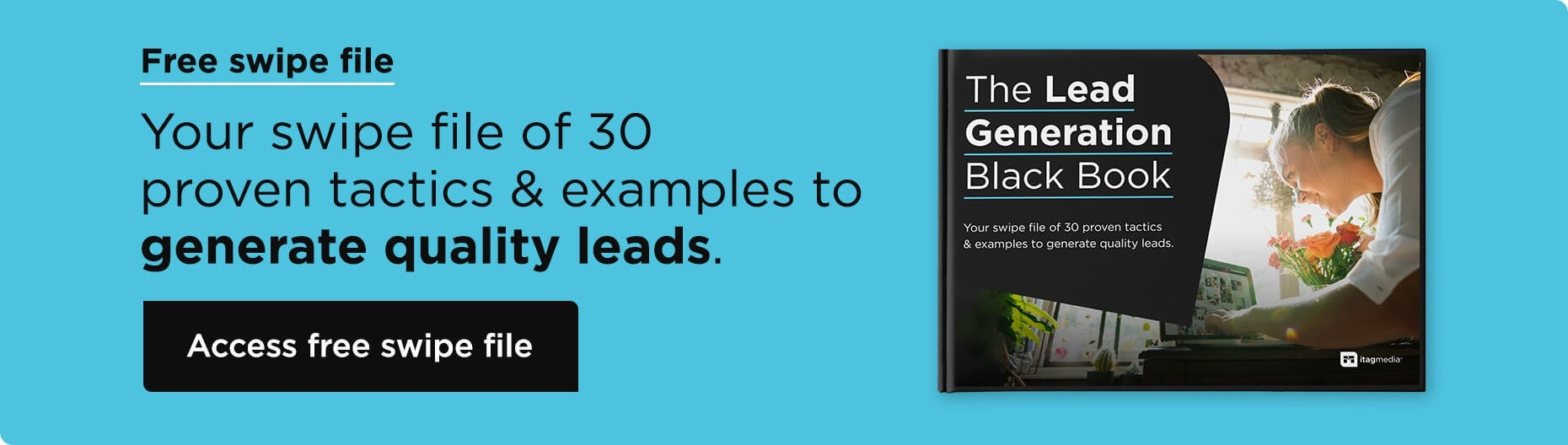 The Lead Generation Black Book - Desktop Blog CTA