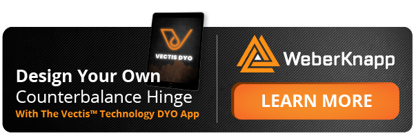 Design your own counterbalance hinge with the Vectis DYO app. Click to learn more.