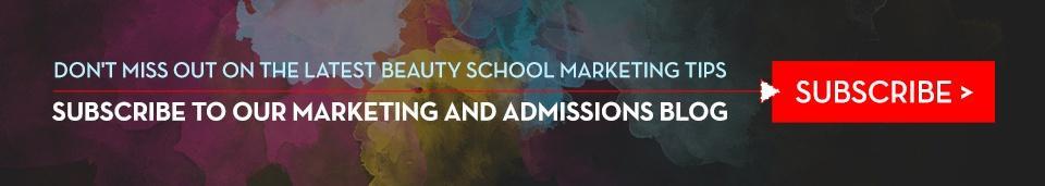 Beauty School Marketing Blog Subscription Image