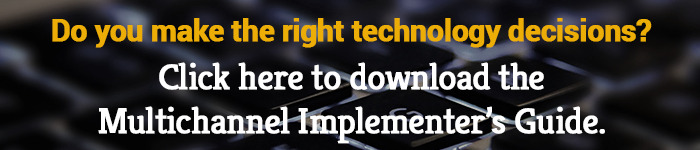 Do you make the right technology decisions? Click here to download the Multichannel Implementer's Guide to make sure you always do!