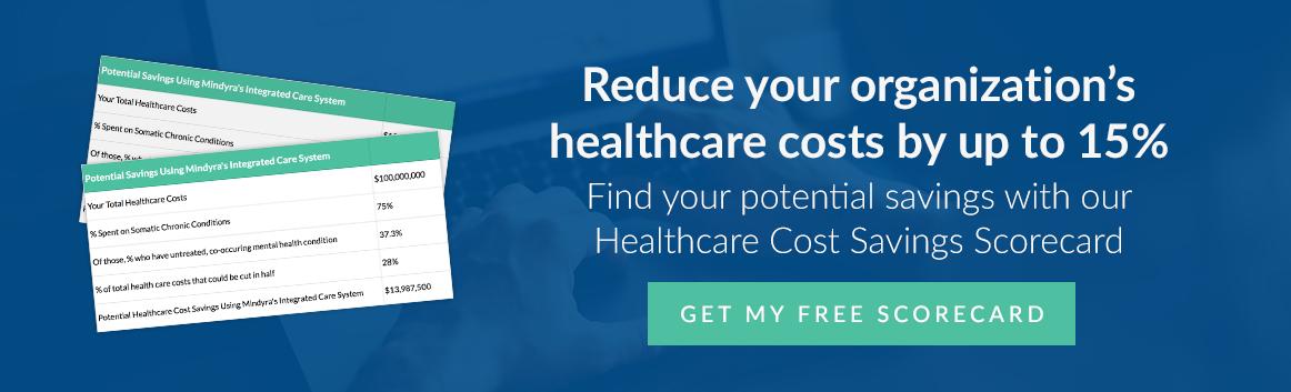 Mindyra healthcare cost savings scorecard
