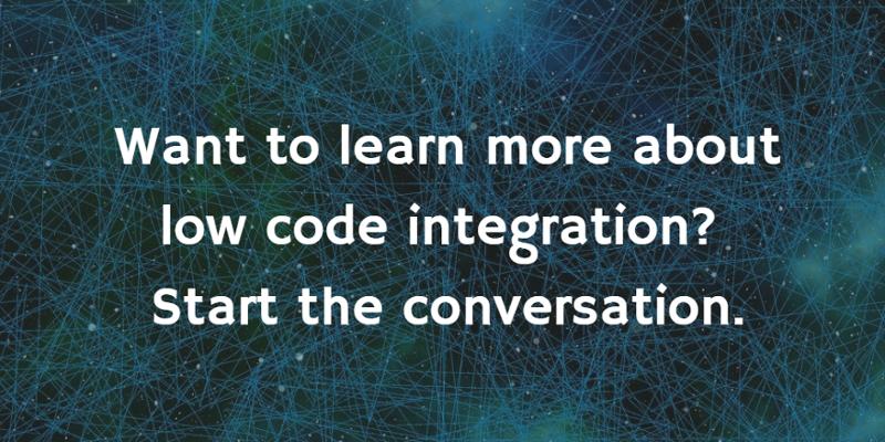 low code integration help