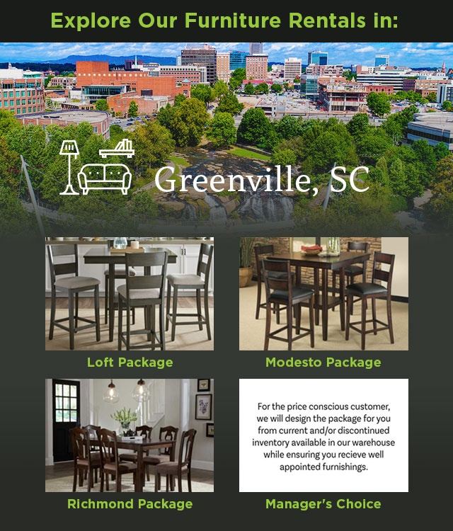 Explore Our Furniture Rentals in Greenville, SC