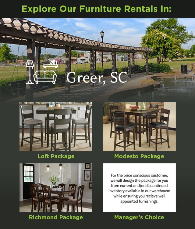 Explore Our Furniture Rentals in Greer, SC