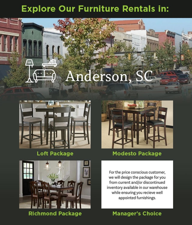 Explore Our Furniture rentals in Anderson, SC