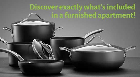 Discover exactly what is included in a furnished apartment