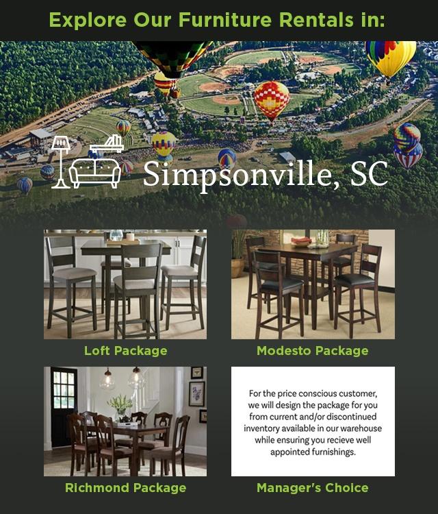 Explore Our Furniture rentals in Simpsonville, SC