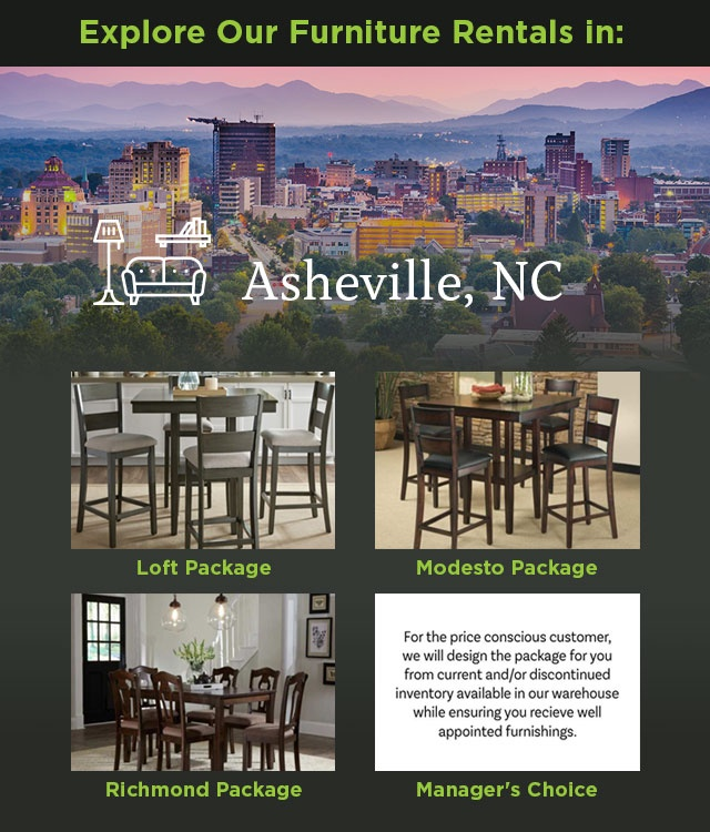 Explore Our Furniture rentals in Asheville