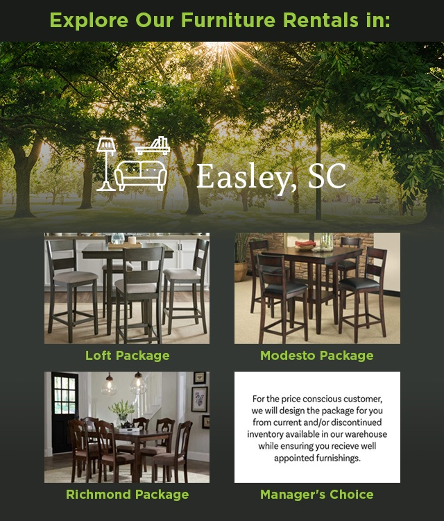 Explore Our Furniture rentals in Easley, SC