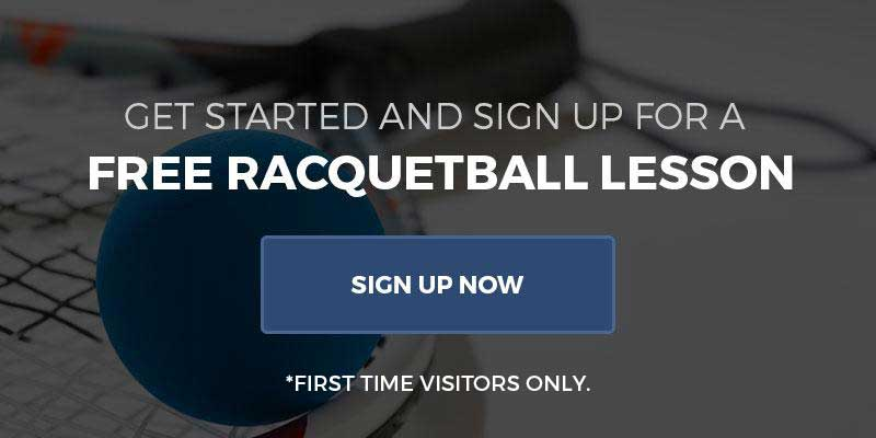 Free racquetball lesson at cherry hill