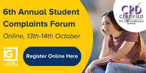 6th Annual Student Complaints Forum