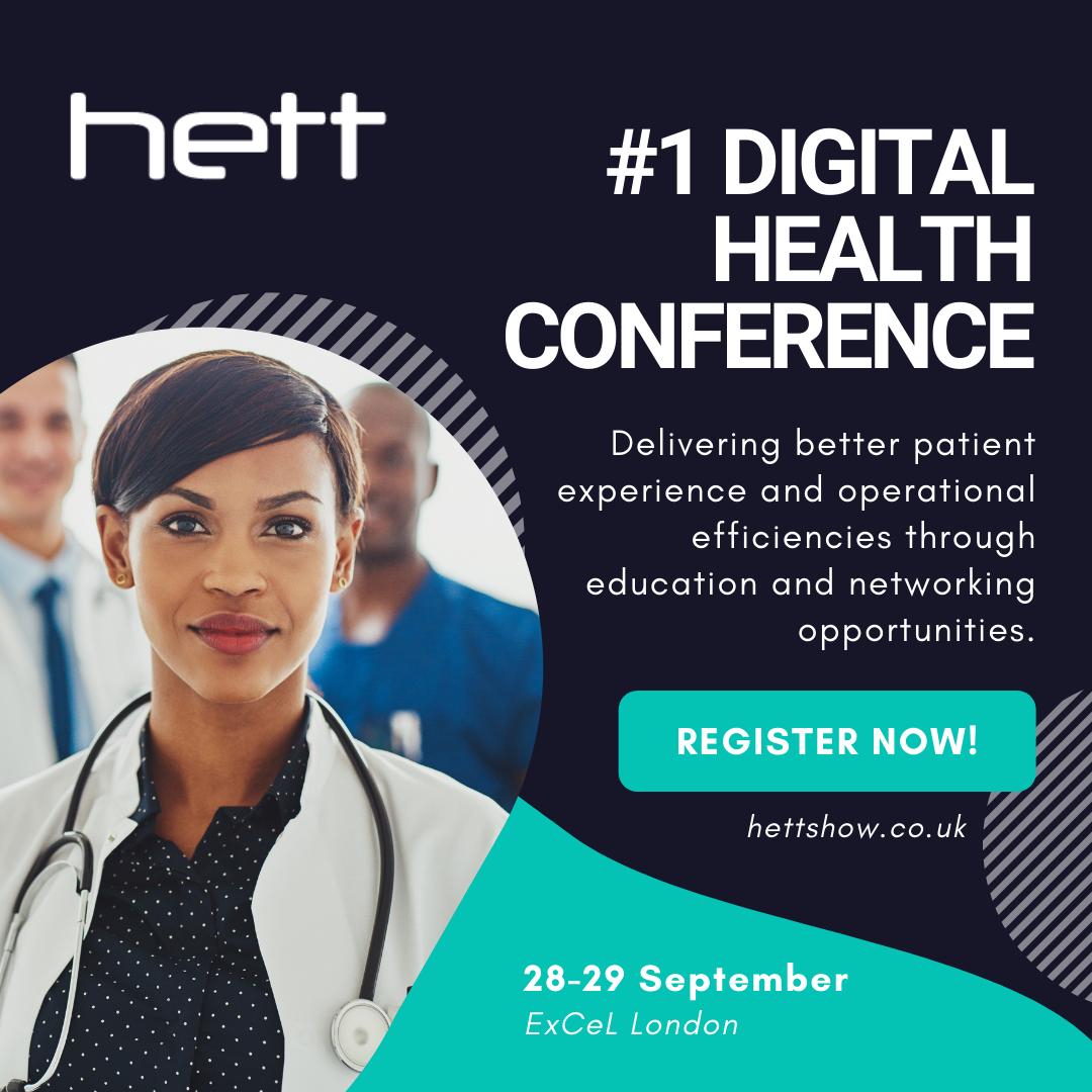 Register for HETT, the UK's leading healthtech and digital health conference
