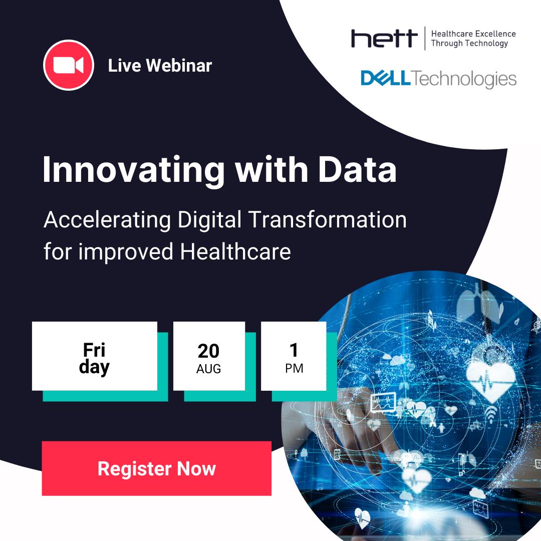 Register for our webinar 'Innovating with Data - Accelerating Digital Transformation for improved Healthcare'