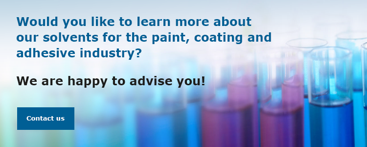 Consultation solvents for the paints, coatings and adhesives industry