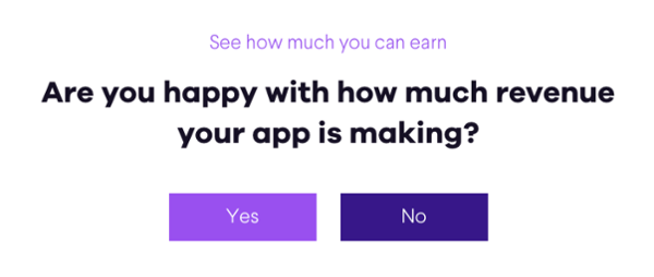 Are you happy with your app revenue?