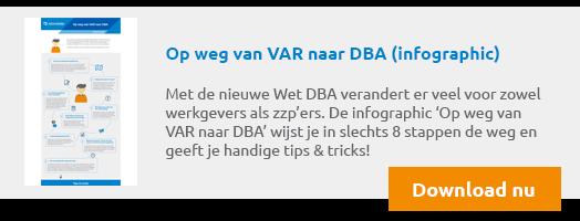 [infographic] stappenplan van VAR naar DBA