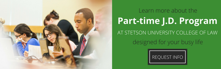 Learn more about Part-time J.D. program at Stetson Law
