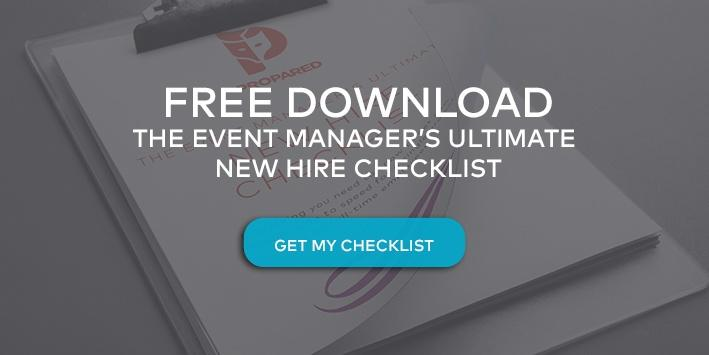 Download a free copy of our Event Manager's Ultimate Checklist for Onboarding New Hires.