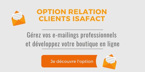 Je découvre l'option Relation clients d'ISAFACT