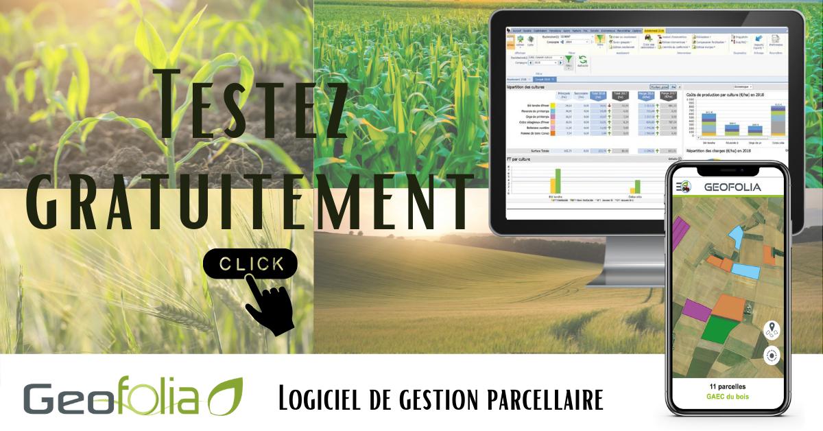 Je teste gratuitement Geofolia : logiciel de gestion parcellaire
