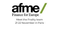 Meet the team at AFME 21-22 Nov 2019 in Paris