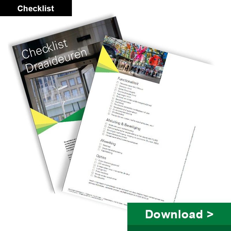 Checklist draaideuren
