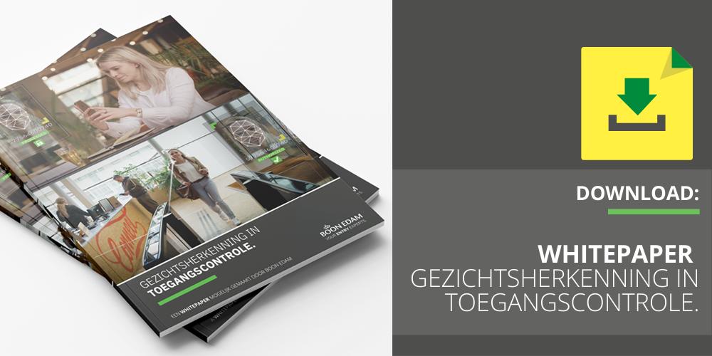 Download hier de whitepaper Gezichtsherkenning in Toegangscontrole