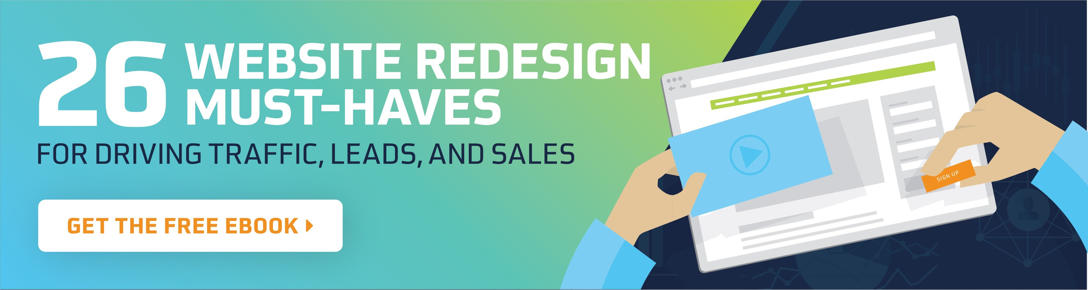 Free eBook - 26 Website Redesign Must-Haves