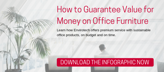 value for money office furniture infographic button