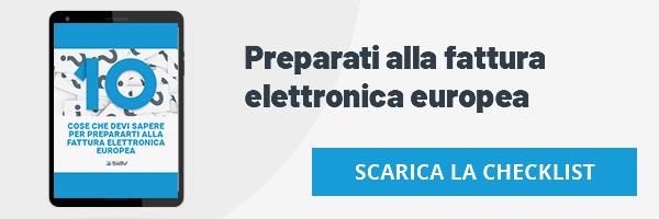 Siav - checklist -10 cose che devi sapere per prepararti alla fattura elettronica europea