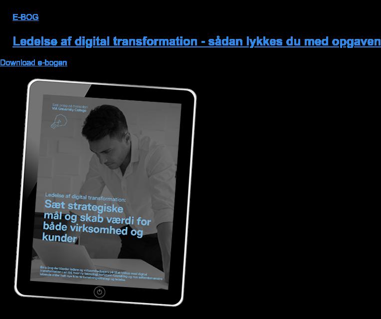 E-BOG  Ledelse af digital transformation - sådan lykkes du med opgaven Download e-bogen