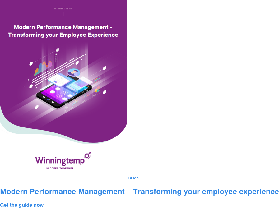 Guide Modern Performance Management – Transforming your employee experience Get the guide now