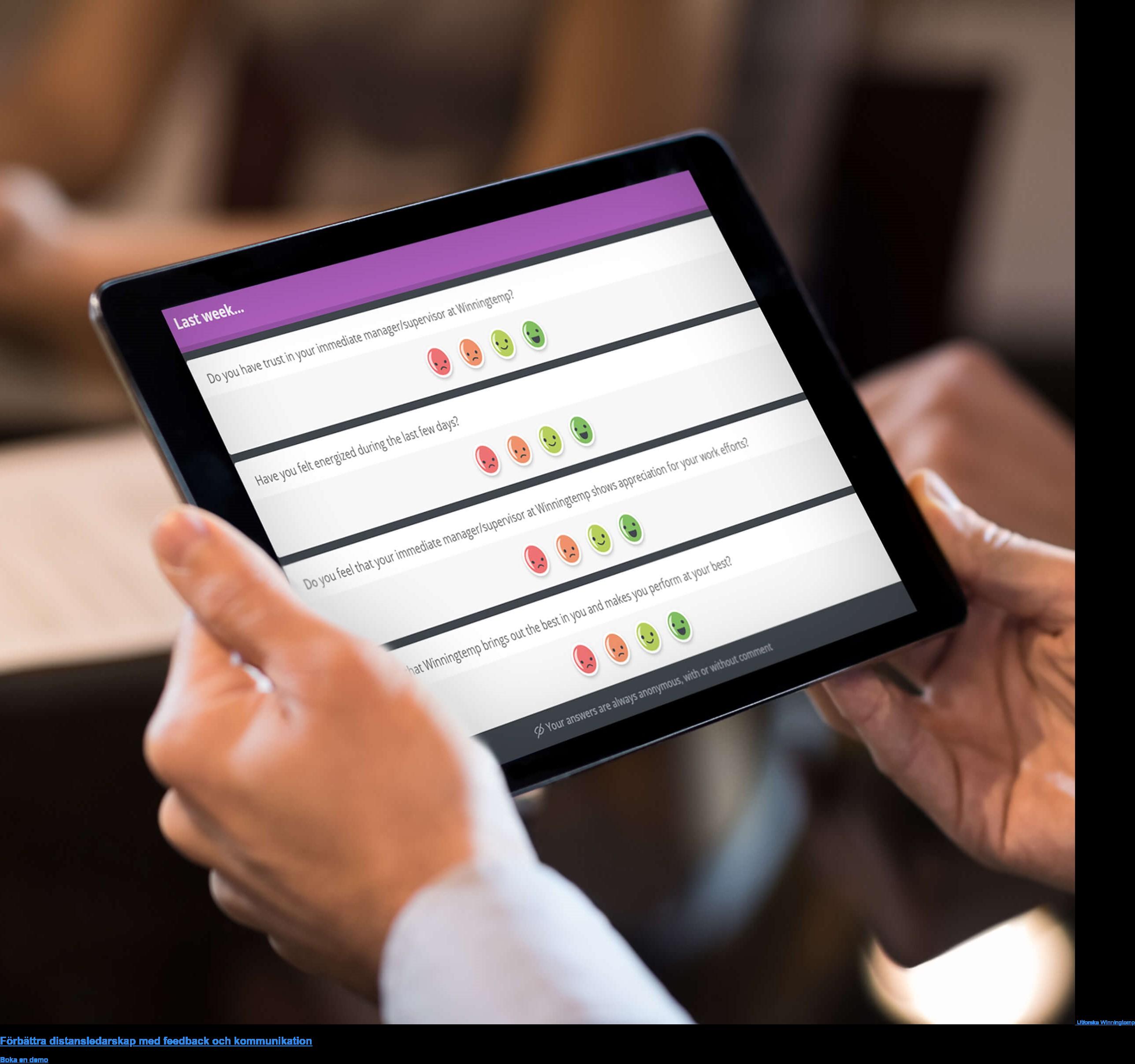 Utforska Winningtemp  Förbättra distansledarskap med feedback och kommunikation Boka en demo