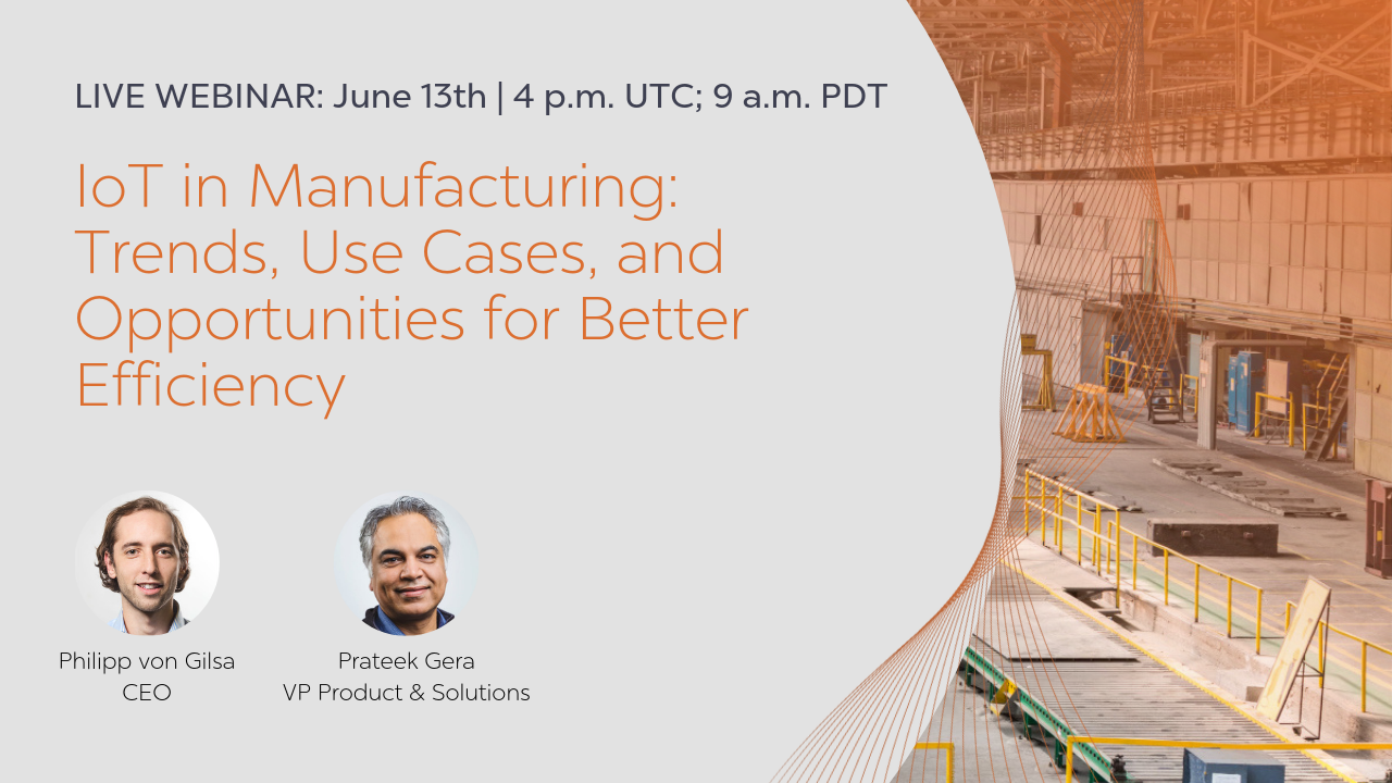 Digital Twin IoT in Manufacturing Webinar invitation