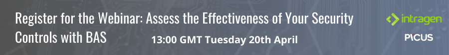 Register for the webinar: Assess the Effectiveness of Your Security Controls  with BAS