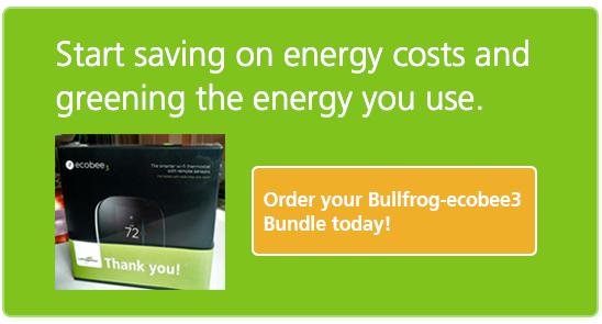 Order your Bullfrog-ecobee3 Bundle today!