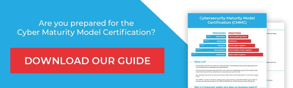 Download Our Cyber Maturity Model Certification Guide