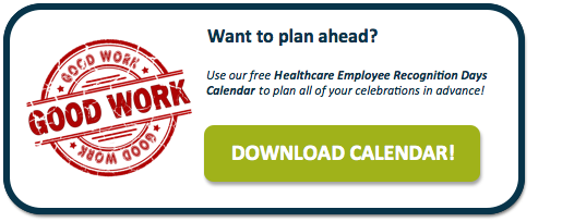 Healthcare Employee Recognition Days Calendar