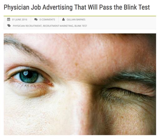 Physician Job Advertising