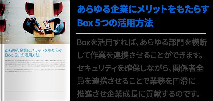 あらゆる企業にメリットをもたらすBox 5つの活用方法