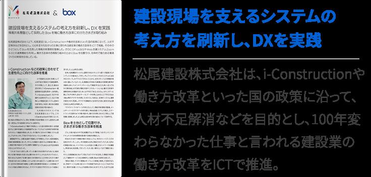 建設現場を支えるシステムの考え方を刷新し、DXを実践